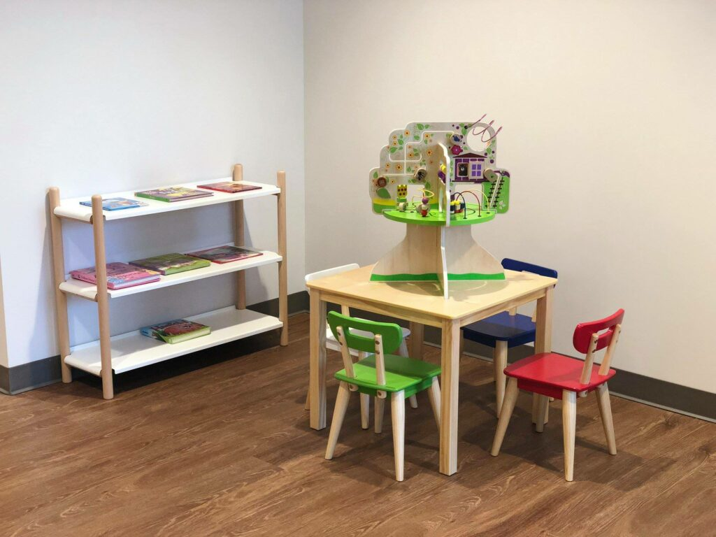 Spring Pediatrics children's table